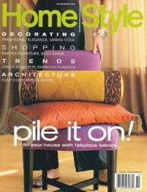 Home Style magazine featured Betty Wasserman in the November 2001 edition