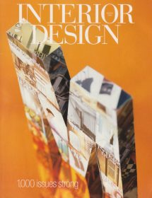 Betty Wasserman featured in the Interior Design magazine - 1000 issues strong