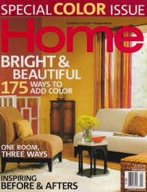 Home magazine - Special Color Issue - featured interior designs by Betty Wasserman