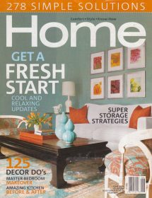 Home magazine featured interior designs by Betty Wasserman
