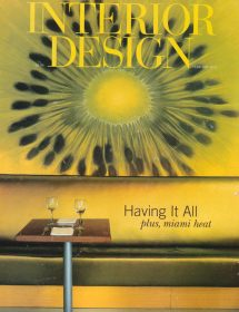 Interior Design featured Betty Wasserman in the February 2002 edition