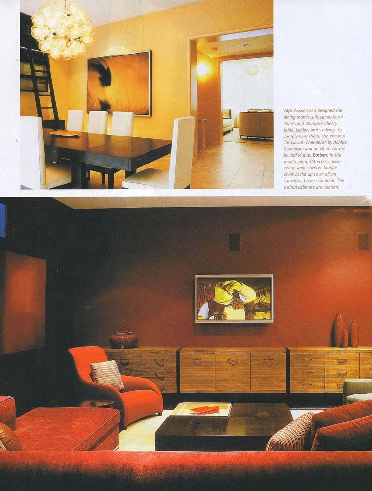 Betty Wasserman Featured In Interior Design September 2005