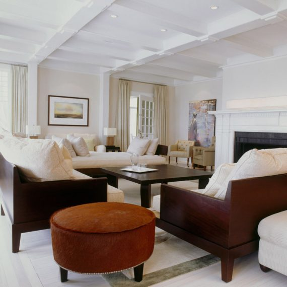 The Hamptons estate living room interior design
