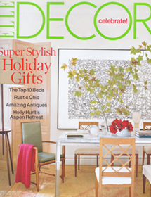 Betty Wasserman featured in the Elle Decor Celebrate magazine