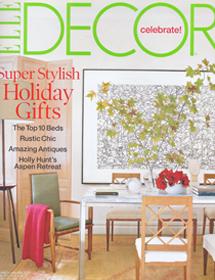 Betty Wasserman featured in the Elle Decor Celebrate magazine