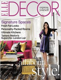 Betty Wasserman featured in Elle Decor Signature Spaces magazine