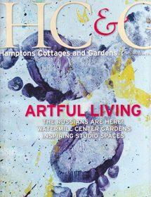 Betty Wasserman featured in the interior design magazine, Hamptons Cottages & Gardens