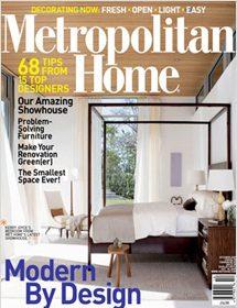 Betty Wasserman interior designs featured in the Metropolitan Home