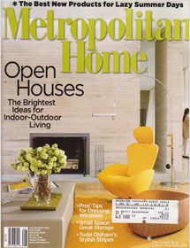 Betty Wasserman open house interior design featured in the Metropolitan Home magazine
