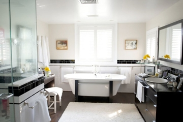 Classic Black And White Bathroom Design In Red Bank Nj