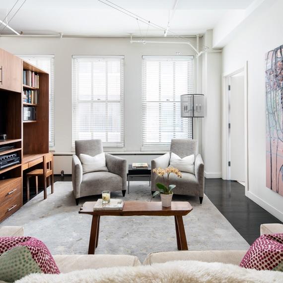 Chelsea Live Work Loft Partition Living Room Design Thumbnail